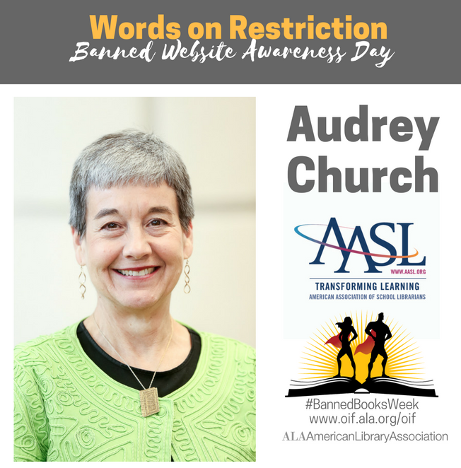 Audrey Church for Banned Website Awareness Day