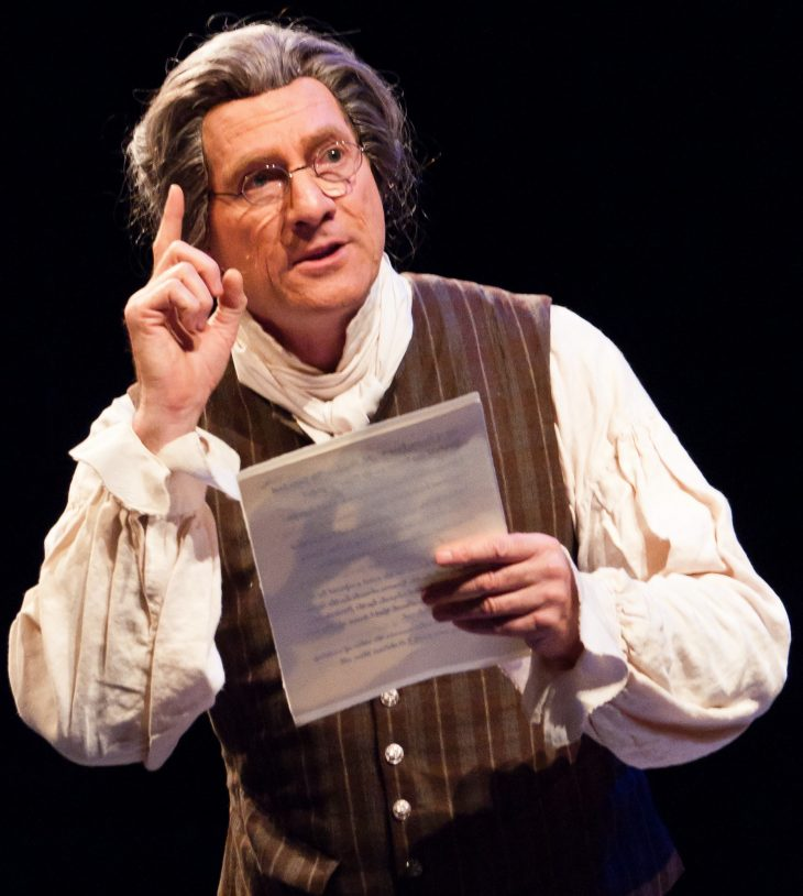 """Ian Ruskin as Thomas Paine in """"To Begin the World Over Again"""""""