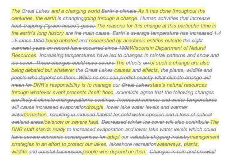 Scott Walker's Wisconsin continues to scrub its websites of climate change mentions. 2017. BoingBoing. By Corey Walker. Web. 30 Mar. 2017. . Image Cropped/Renamed CC BY-NC-SA 3.0