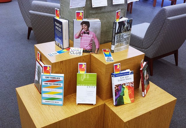 COM's LGBT Club's - Day of Silence book display in College of the Mainland Library.