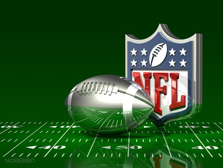 NFL logo with silver football