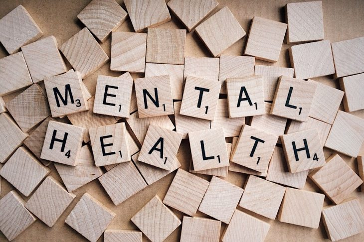 Image of Scrabble tiles spelling out mental health