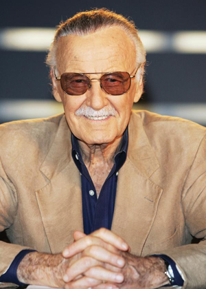 comic book writer and creator, Stan Lee picture from: https://americanlibrariesmagazine.org/2014/05/19/an-interview-with-stan-lee/