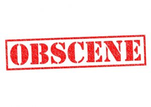 Obscene Content rubber stamp