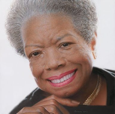 Portrait of Maya Angelou in the National Portrait Gallery.
