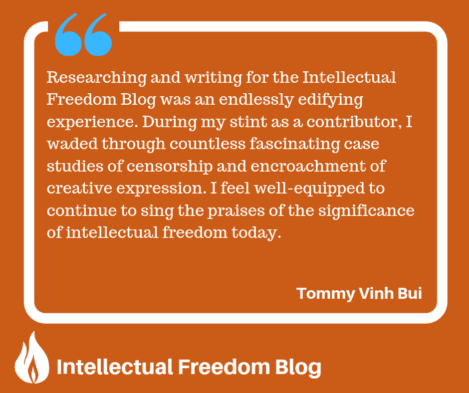 Intellectual Freedom Blog quote from Tommy Vinh Bui