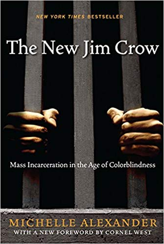 The cover of The New Jim Crow by Michelle Alexander, 2012, via Amazon