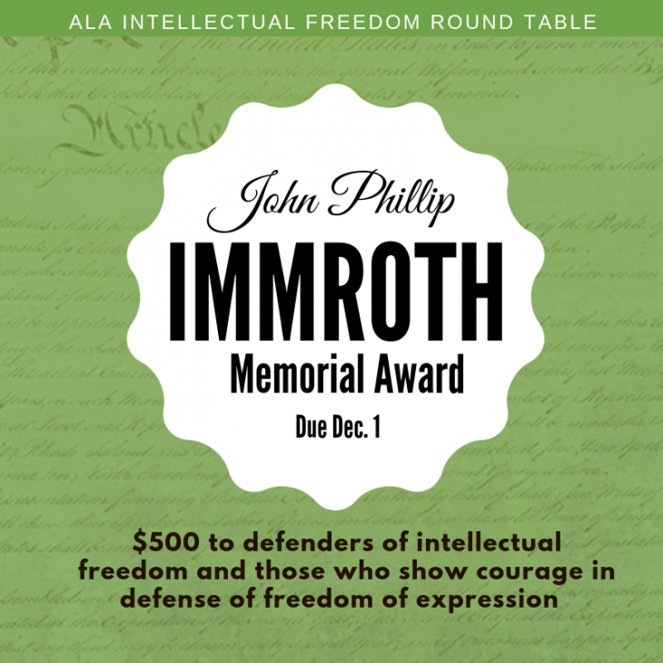 IFRT Immroth Award for Intellectual Freedom