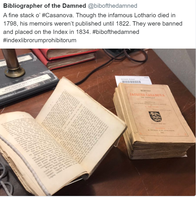 Bibliographer of the Damned tweet