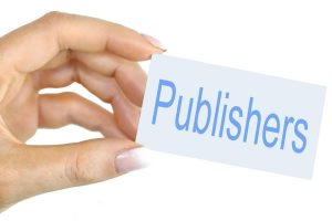 hand holding the word publishers