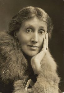 portrait of Virginia Woolf in 1927 from Harvard Theater Collection, Houghton Library