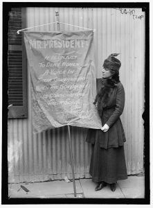 Women Suffrage Banner 1917 Harris & Ewing Photograph Collection of the LOC