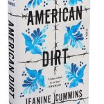 White and blue book cover, American Dirt