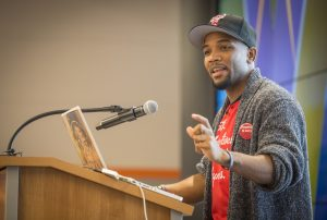 Headshot of Dr. A. D. Carson, assistant professor of hip hop and the Global South at University of Virginia.