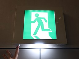 Exit sign with strobe light
