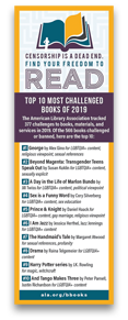 Most Challenged Books of 2019 Bookmark