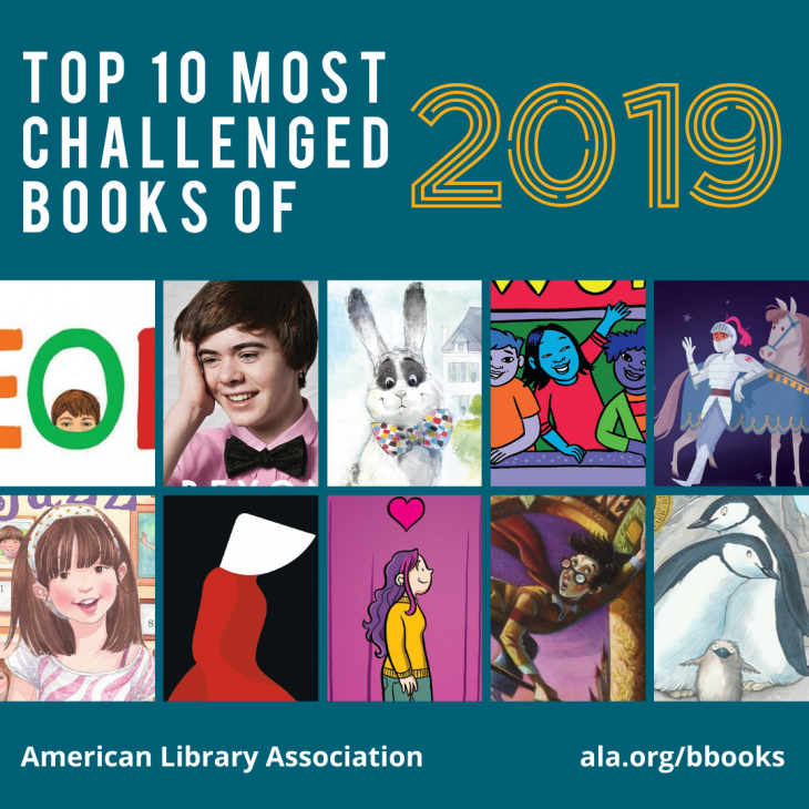 Top 10 Most Challenged Books of 2019