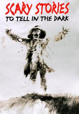 Cover of Scary Stories to Tell in the Dark, showing a scarecrow with open arms