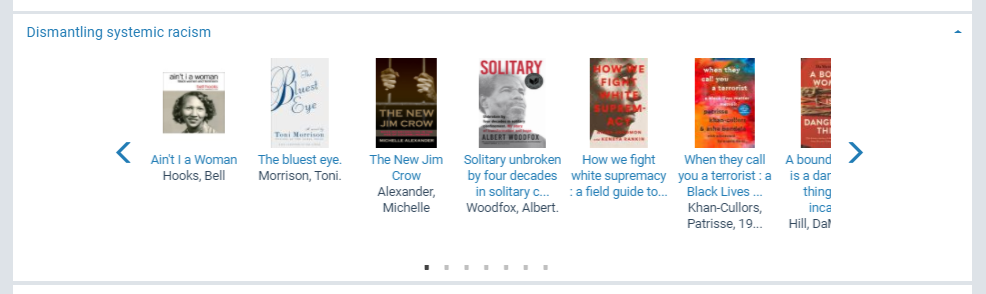 Fairfax County Public Library Dismantling Systemic Racism book list