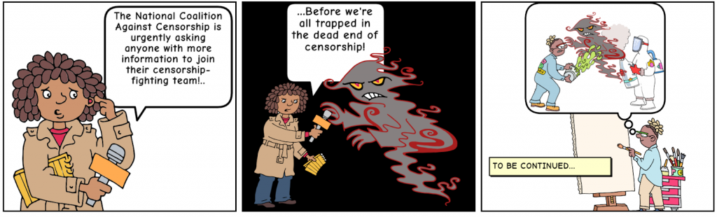 Excerpt from censored comic in Escape the Dead End of Censorship!