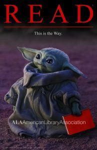Baby Yoda stars in new READ® poster and bookmark from the American Library Association
