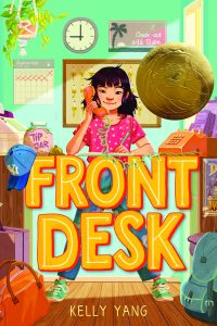 """Book Cover of """"Front Desk: illustrated by Maike Plenzke"""