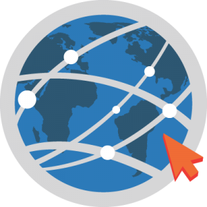 Image of globe, with points connected.