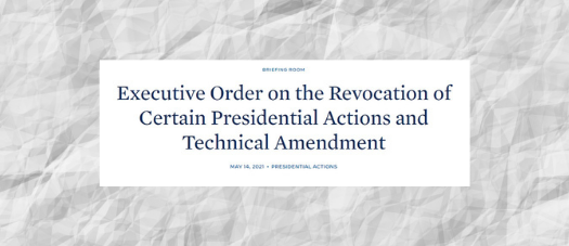 Executive Order on the Revocation of Certain Presidential Actions and Technical Amendment