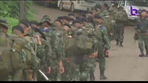 Soldiers from the 17th infantry regiment deployed to assist at Tham Luang cave