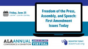 Freedom of the Press, Assembly, and Speech session logo.