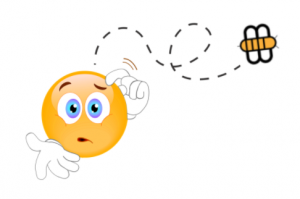 Skeptical or confused smiley buzzed by Babylon Bee logo